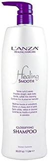 ランツァスムーズシャンプーを癒し(千ミリリットル) x4 - Lanza Healing Smooth Glossifying Shampoo (1000ml) (Pack of 4) [並行輸入品]