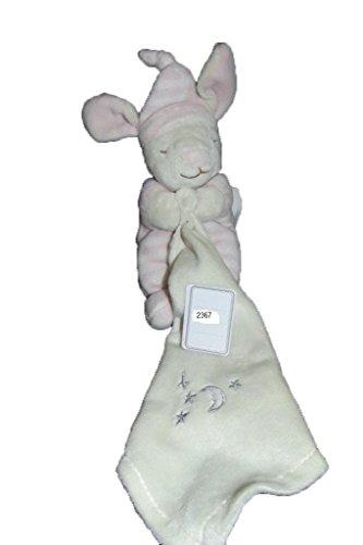 kimbaloo–Kuscheltier kimbaloo Hase Latzhose Mütze Rayee gestreift rosa Taschentuch Etoile Mond grau–2367
