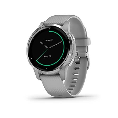 Garmin VIVOACTIVE 4S Smartwatch Silver Silicone Straps Grade A+ (Renewed)
