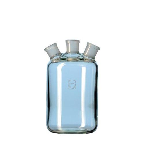 DURAN 24 709 63 Woulff'sche Flasche, 3 Hälse mit NS, 2000ml Inhalt