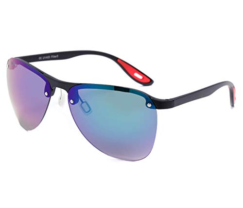 Alsino Lunettes de soleil sportives sans bordures avec protection UV 400 Protection Viper Eyewear Collection pour homme et femme Unisexe, Nacré/noir