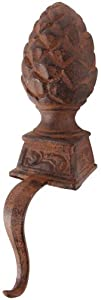 Stocking Hook 2;535 inch 4;68 inch 5;46In Sturdy Cast Iron A perfect addition to any home during the holiday season Country Of Origin: China