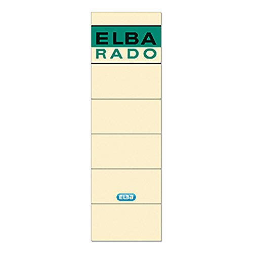 Elba Spine Label for Lever Arch Files 190 x 59 mm Buff - Etiqueta autoadhesiva (Multicolor, 59 mm, 190 mm, 10 pieza(s), 10 hojas)