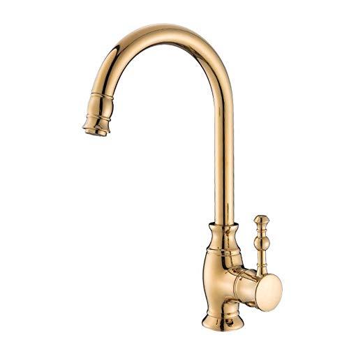 ZPSPZ rubinetto da cucina cucina europea rubinetto d'oro - erba forte e sexy rame tank