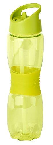 Thermo Rex Trinkflasche Grip | 800ml | grün | BPA-freier Kunststoff | nahezu bruchsicher u wiederverwendbar | mit integriertem Strohhalm | Wasserflasche