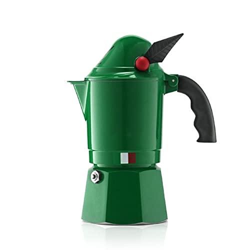 HYMD Stovetop coffee maker 3 szklanki ekspres do kawy, kuchenka kuchenna kuchenna kuchenka gazowa ekspres do kawy (Color : Green, Size : 200 ml)