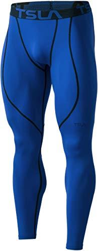 (テスラ)TESLA 防寒・保温 コンプレッションパンツ スポーツウェア [吸湿速乾・UVカット] メンズ スポーツタイツ ランニングウェア 起毛 コンプレッションウェア 保温インナー YUP53-BLU_L