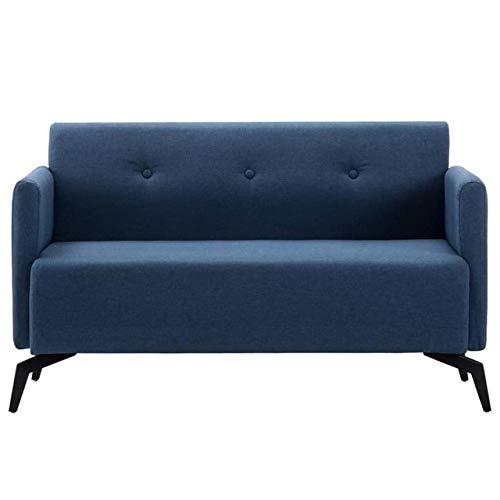 OZLXKNC Modernes 2-Sitzer-Sofa mit Armlehne Blaues Sofa Dickes Retro-Sofa für Wohnzimmermöbel Schlafzimmer-Stoffsofa