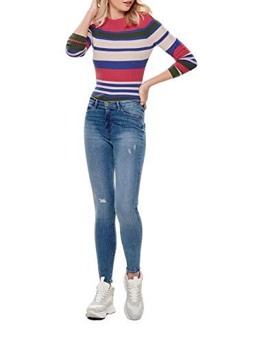 ONLY Damen Jeans onlPAOLA Highwaist SK JNS BB AZG809 - Skinny Fit - Blau - Light Blue, Größe:M - L 30, Farbe:Light Blue Denim (15170857)