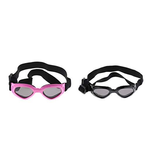 MagiDeal 2 Juegos de Gafas de Protección contra Los Rayos UV Protección para Mascotas Perro Gato Gato Negro + Rosa