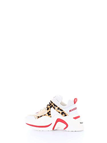 NAKED WOLFE Sneaker Track Red Leopard Taglia 39 - Colore LEOPARDATO