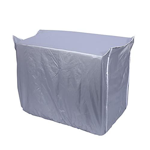 Coperchio del Condizionatore d'Aria, Copertura per Condizionatore Protezione Resistente al Sole per casa Impermeabile Schermo in Tessuto d'argento Copri Condizionatore da Esterno (86 × 32 × 56cm)