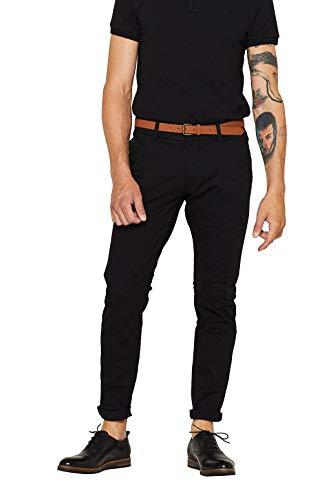 ESPRIT Herren Essential Chino Hose, 001/BLACK-New Version, 34W / 32L