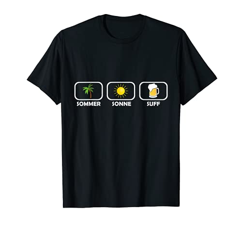 Sommer Sonne Suff T-Shirt