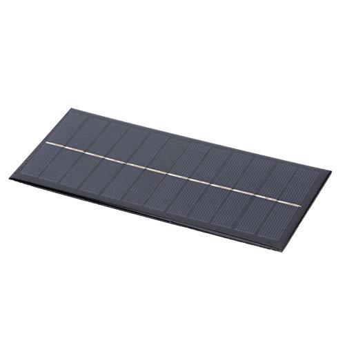 Pinsofy Cargador de Panel Solar, energía Limpia, Panel Solar de Bricolaje, 9 V, polisilicio Multiusos de 2,5 W para batería Recargable para Sistema de energía Solar