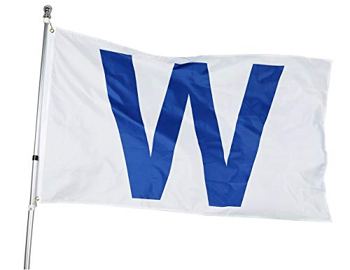 Homissor Chicago W Win Flag - 3x5 Feet Cub Win Combo Flags - Large Clubs Banner with 100% Super Polyester Material