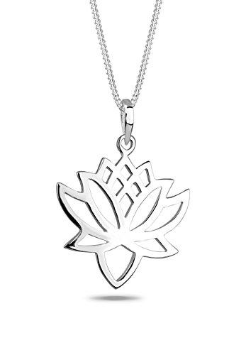 Elli Halskette Elli Damen Halskette mit Lotusblüten Symbol Talisman Blume Blüte in 925 Sterling Silber