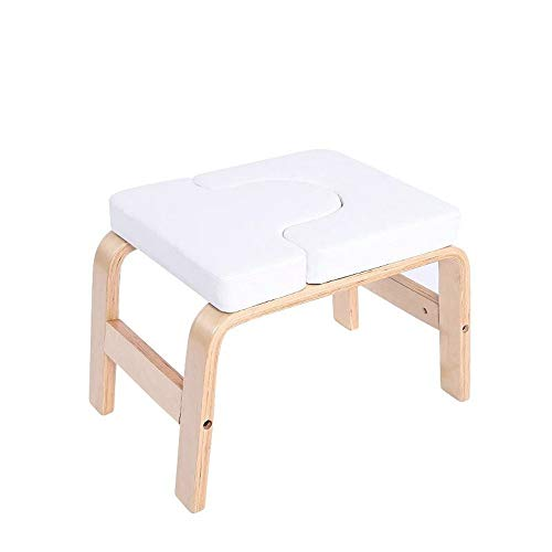 Check Out This L.J.JZDY Yoga Chair Yoga Headstand Bench, Solid Birch Wood Stand Yoga Inversion Chair...
