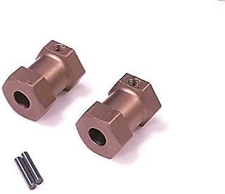 2pcs Aluminum HEX 12mm adapters/Locking Hub for Tamiya CW-01 Lunch Box/Frog/Monster Beetle/Grasshopper/Hornet