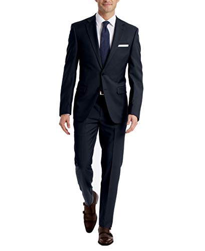 Calvin Klein Men's Slim Fit Suit Separates, Solid Navy, 36 Short