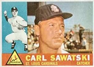 1960 Topps Regular (Baseball) Card# 545 carl sawatski of the St. Louis Cardinals Ex Condition