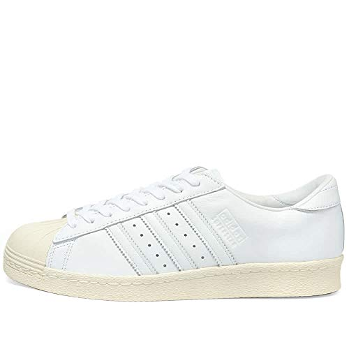 adidas Originals Men's Superstar Shoes White/Off-White, Size 13