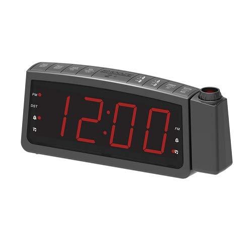 QAWACHH Digital Dimmable Projection Alarm Clock with Radio Home Decor