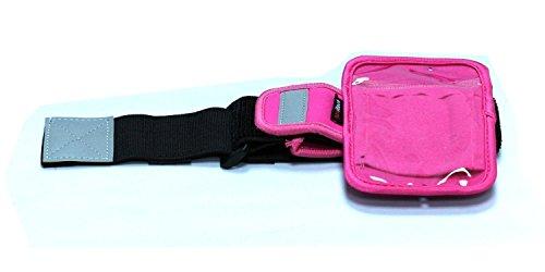 Navitech Rosa Neoprene Wasser wiederständiges Sport/Laufen/lauf armbinde Case für das Sony NWZ-WS613 4 GB WS Series