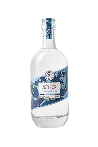 AETHER GIN | London Dry Gin | 100 % der Inhaltsstoffe destilliert | Alchemie und Handwerk | 48,2 % vol | LSM Leipziger Spirituosen Manufaktur | 1 x 0.5 l