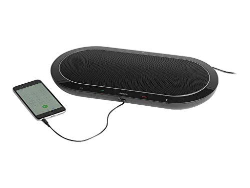 Jabra Speak 810 Conference Speakerphone, UC-Optimized – Portable Speaker with Bluetooth, USB, or 3.5mm Jack Connection – Superior Audio for Larger Calls – Sets Up in Seconds