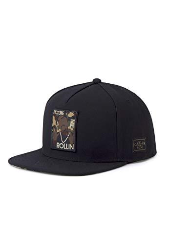 Cayler & Sons Unisex-Adult Herren Snapback Caps WI 2pac Rollin schwarz Einheitsgröße Cap, Black/Woodland
