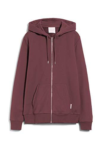 ARMEDANGELS JOAA - Herren Sweatjacke aus Bio-Baumwoll Mix M Sable Red Sweatjacket Solid, Sweat Jacke Regular fit