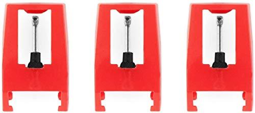 Plattenspieler-Nadeln, Ersatznadel für Plattenspieler und Audio-Technica-Plattenspieler, Diamantspitze,3 Stück,Nadel-Drehteller