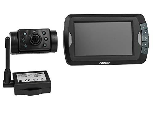 Pro-User APR043 20120 Funk-Rückfahrkamerasystem mit 4,3'' Monitor und Nachtsichtkamera