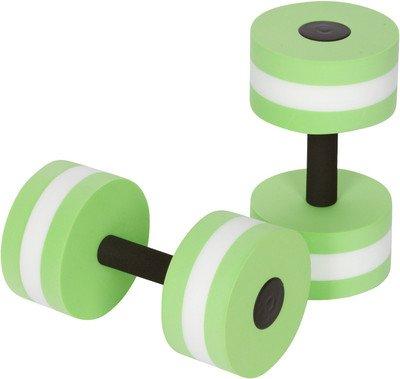 Big Boss Sports Aquatic Exercise Dumbbells Aqua Fitness Barbells Exercise Hand Bars - Set of 2 - for Water Aerobics (Green)