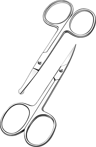 Curved and Rounded Facial Hair Scissors