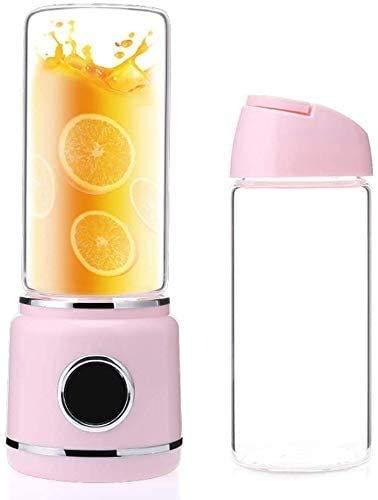 Mini spremiagrumi portatile con tazza da 420 ml, ricarica USB per uso domestico, piccolo mixer elettrico, facile da pulire, può essere utilizzato come tesoro di ricarica, blu, rosa