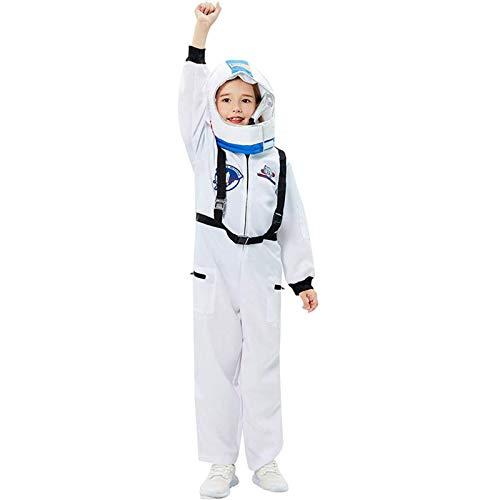 LONGROOM Disfraz De Astronauta para NiñOs Juego Roles Conjunto Traje Mono Ropa Uniforme Casco NiñAs rol Unisex Espacial SimulacióN L A