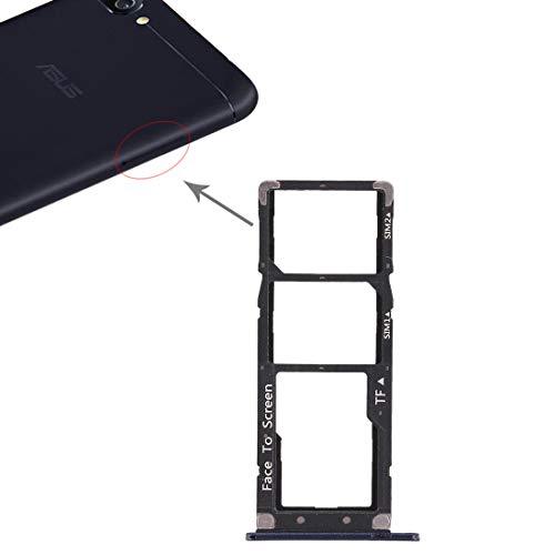 Try Vassoio (BLU) alloggio porta scheda nano Sim1+ SIM 2 + SLOT SLITTA Alloggio Memoria Micro Sd TRAY CARD COMPATIBILE PER ASUS ZENFONE 4 MAX 5.2' ZC520KL X00HD