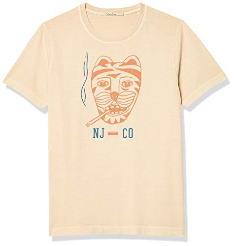 Nudie Jeans Unisex-Erwachsene Roy Misfit Creature #1 T-Shirt, Sand, X-Large