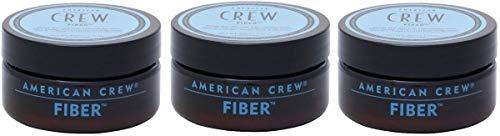 3 ceras de fibra American Crew, acabado mate, sujeción fuerte y tamaño grande (85g)