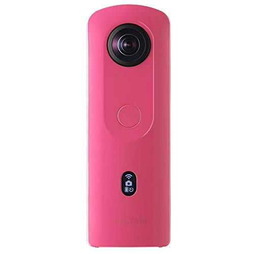 RICOH Theta SC2 Pink 360°Camera 4K Video with Image stabilization High Image Quality High-Speed Data Transfer Beautiful Portrait Shooting with face Detection Thin & Lightweight for iPhone, Android