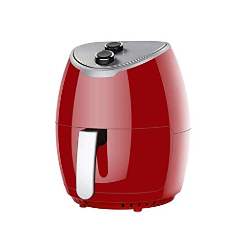 SHUUY Compact Air Fryer Oven Cooker with Temperature Control, Non Stick Fry Basket, Recipe Guide + Auto Shut of Feature, 4L (Color : Red)