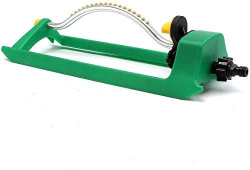 Ulable 18-Loch-Rasensprinkler Einstellbarer automatischer Schaukelsprinkler Gartenbewässerungssystem für Garten/Rasen/Park/Hof, Grün