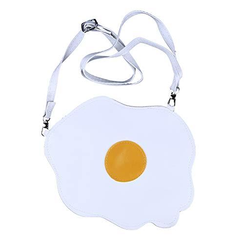 ZSDN Personalisierte kreative süße Toast pochierte Eierform Mini-Taschen Crossbody Female Messenger Bags Leichte Schultasche