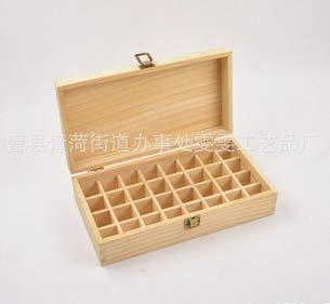 Aromatherapie box, etherische oliën kist, organizer van hout voor 32 flessen etherische oliën parfumopslag, olie opbergtas voor kleine accessoires