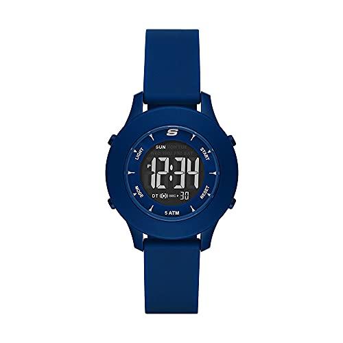Skechers - Reloj Digital Rosencrans de policarbonato de Tono Azul para Mujer, SR6202