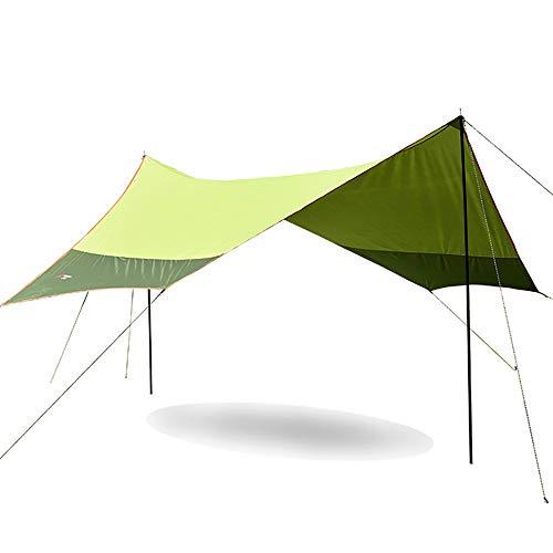 Zeltplane, Tarp für Hängematte, Sonnenschutz Sonnendach Regenschutz für Ourdoor Camping, Wasserdicht mit Ösen + 8 Erdnägel+ 6 Seilen