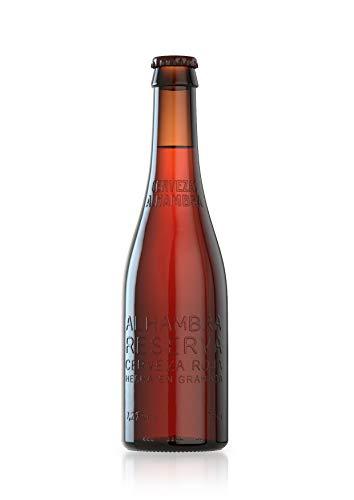 Alhambra Reserva Roja Cerveza Bock Lager, 7.2 % Volumen de Alcohol - Pack de 24 x 33 cl