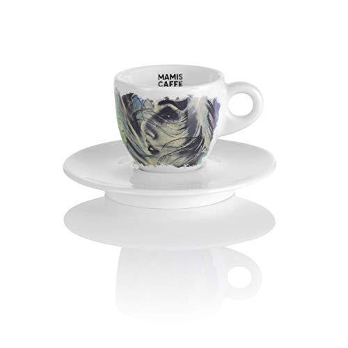 Mamis Caffè Alessia Espresso Porzellantasse mit Motiv weiß 65 ml